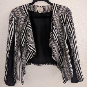 Ámbar Geometric Striped Blazer